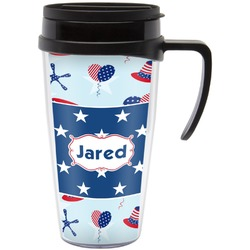 Patriotic Celebration Travel Mug with Handle (Personalized)