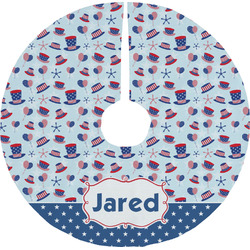 Patriotic Celebration Tree Skirt (Personalized)