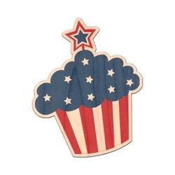 Patriotic Celebration Genuine Maple or Cherry Wood Sticker (Personalized)