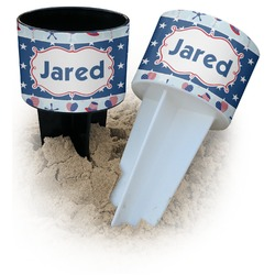 Patriotic Celebration Beach Spiker Drink Holder (Personalized)