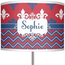 "Patriotic Fleur de Lis 13"" Drum Lamp Shade (Personalized)"