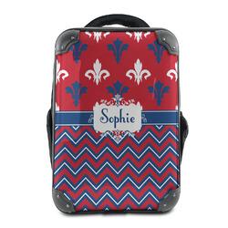 Patriotic Fleur de Lis Hard Shell Backpack (Personalized)