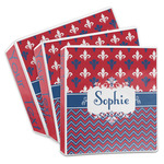 Patriotic Fleur de Lis 3-Ring Binder (Personalized)