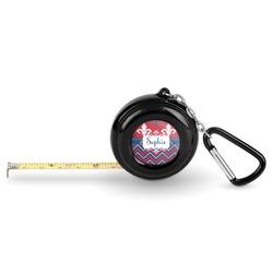 Patriotic Fleur de Lis Pocket Tape Measure - 6 Ft w/ Carabiner Clip (Personalized)
