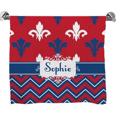 Patriotic fleur de lis full print bath towel personalized youcustomizeit - Fleur de lis bath towels ...