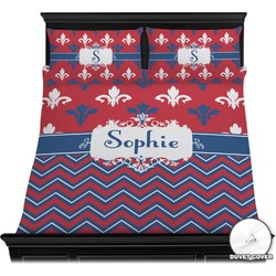 Patriotic Fleur de Lis Duvet Cover Set (Personalized)