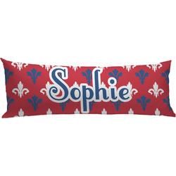 Patriotic Fleur de Lis Body Pillow Case (Personalized)