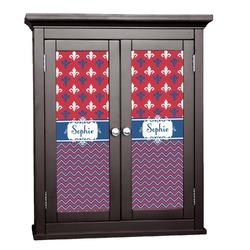 Patriotic Fleur de Lis Cabinet Decal - Custom Size (Personalized)