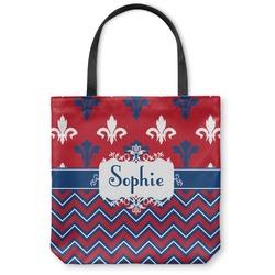 Patriotic Fleur de Lis Canvas Tote Bag (Personalized)
