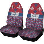 Patriotic Fleur de Lis Car Seat Covers (Set of Two) (Personalized)