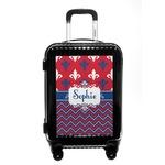 Patriotic Fleur de Lis Carry On Hard Shell Suitcase (Personalized)
