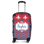 Patriotic Fleur de Lis Suitcase (Personalized)