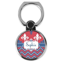 Patriotic Fleur de Lis Cell Phone Ring Stand & Holder (Personalized)