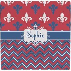 Patriotic Fleur de Lis Ceramic Tile Hot Pad (Personalized)