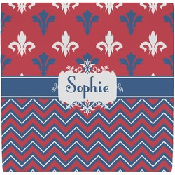 Patriotic Fleur de Lis Ceramic Tile Hot Pad (Personalized)