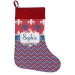 Patriotic Fleur de Lis Holiday Stocking w/ Name or Text