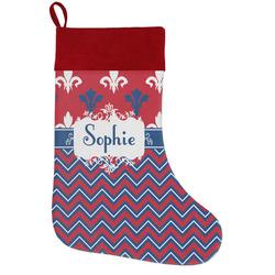 Patriotic Fleur de Lis Holiday / Christmas Stocking (Personalized)