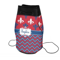 Patriotic Fleur de Lis Neoprene Drawstring Backpack (Personalized)