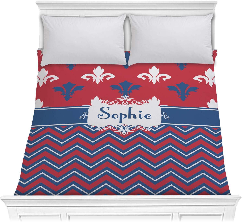 Patriotic fleur de lis comforter full queen personalized youcustomizeit - Fleur de lis comforter ...