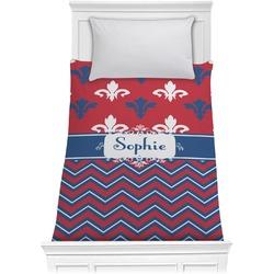 Patriotic Fleur de Lis Comforter - Twin (Personalized)