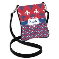 Patriotic Fleur de Lis Cross Body Bag - 2 Sizes (Personalized)