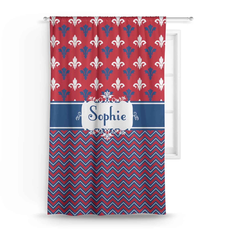 Patriotic Fleur De Lis Curtain Personalized