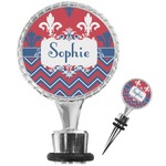 Patriotic Fleur de Lis Wine Bottle Stopper (Personalized)
