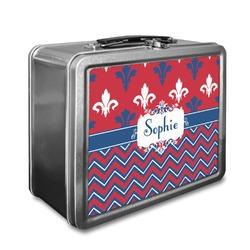 Patriotic Fleur de Lis Lunch Box (Personalized)