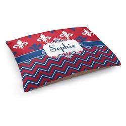 Patriotic Fleur de Lis Dog Bed (Personalized)