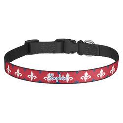 Patriotic Fleur de Lis Dog Collar (Personalized)