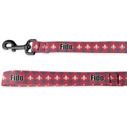 Patriotic Fleur de Lis Deluxe Dog Leash (Personalized)