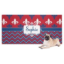 Patriotic Fleur de Lis Pet Towel (Personalized)