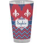Patriotic Fleur de Lis Drinking / Pint Glass (Personalized)