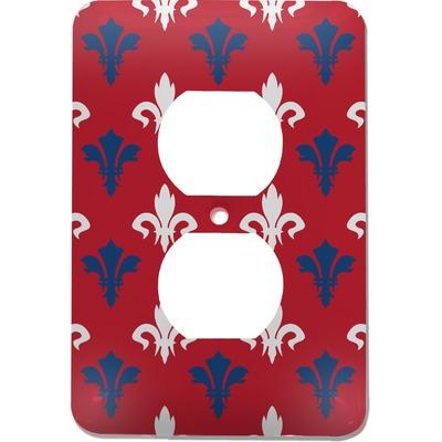 Patriotic Fleur de Lis Electric Outlet Plate (Personalized)