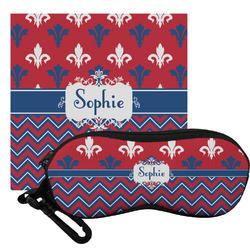 Patriotic Fleur de Lis Eyeglass Case & Cloth (Personalized)