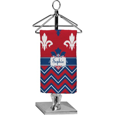 Patriotic Fleur de Lis Finger Tip Towel - Full Print (Personalized)