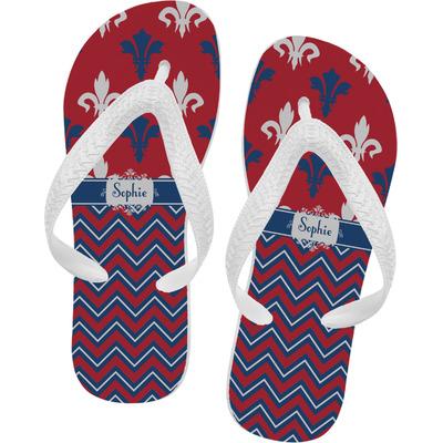 Patriotic Fleur de Lis Flip Flops (Personalized)