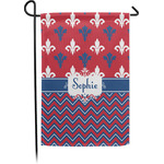 Patriotic Fleur de Lis Garden Flag - Single or Double Sided (Personalized)
