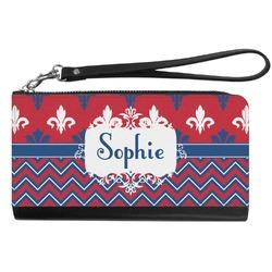 Patriotic Fleur de Lis Genuine Leather Smartphone Wrist Wallet (Personalized)