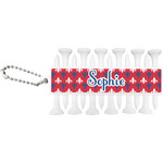 Patriotic Fleur de Lis Golf Tees & Ball Markers Set (Personalized)