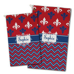 Patriotic Fleur de Lis Golf Towel - Full Print w/ Name or Text