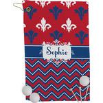Patriotic Fleur de Lis Golf Towel - Full Print (Personalized)
