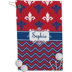 Patriotic Fleur de Lis Golf Towel - Full Print (Personalized)