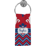 Patriotic Fleur de Lis Hand Towel - Full Print (Personalized)
