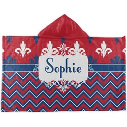 Patriotic Fleur de Lis Kids Hooded Towel (Personalized)