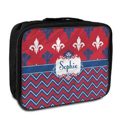 Patriotic Fleur de Lis Insulated Lunch Bag (Personalized)