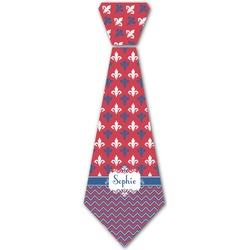 Patriotic Fleur de Lis Iron On Tie (Personalized)