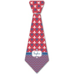 Patriotic Fleur de Lis Iron On Tie (Personalized)