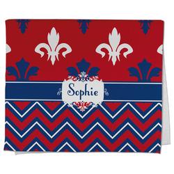 Patriotic Fleur de Lis Kitchen Towel - Full Print (Personalized)