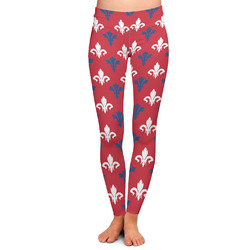 Patriotic Fleur de Lis Ladies Leggings (Personalized)